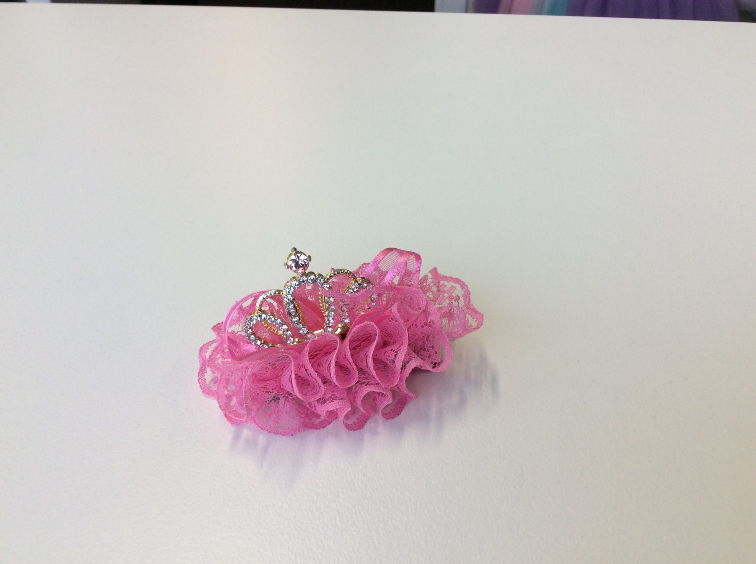 Pink Tiara Hair Clip